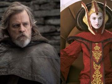 Mark Hamill y Natalie Portman en 'Star Wars'
