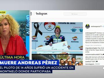 """Muere el piloto español de 14 años Andreas Pérez tras sufrir un accidente en Montmeló: """"No ha podido ganar esta carrera"""""""