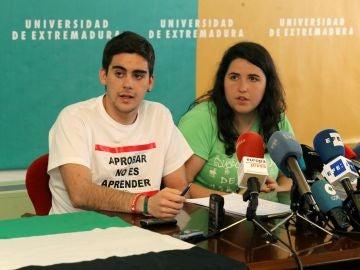 Hernán Álvarez y Amalia Moreno, del consejo de Estudiantes de la UEX