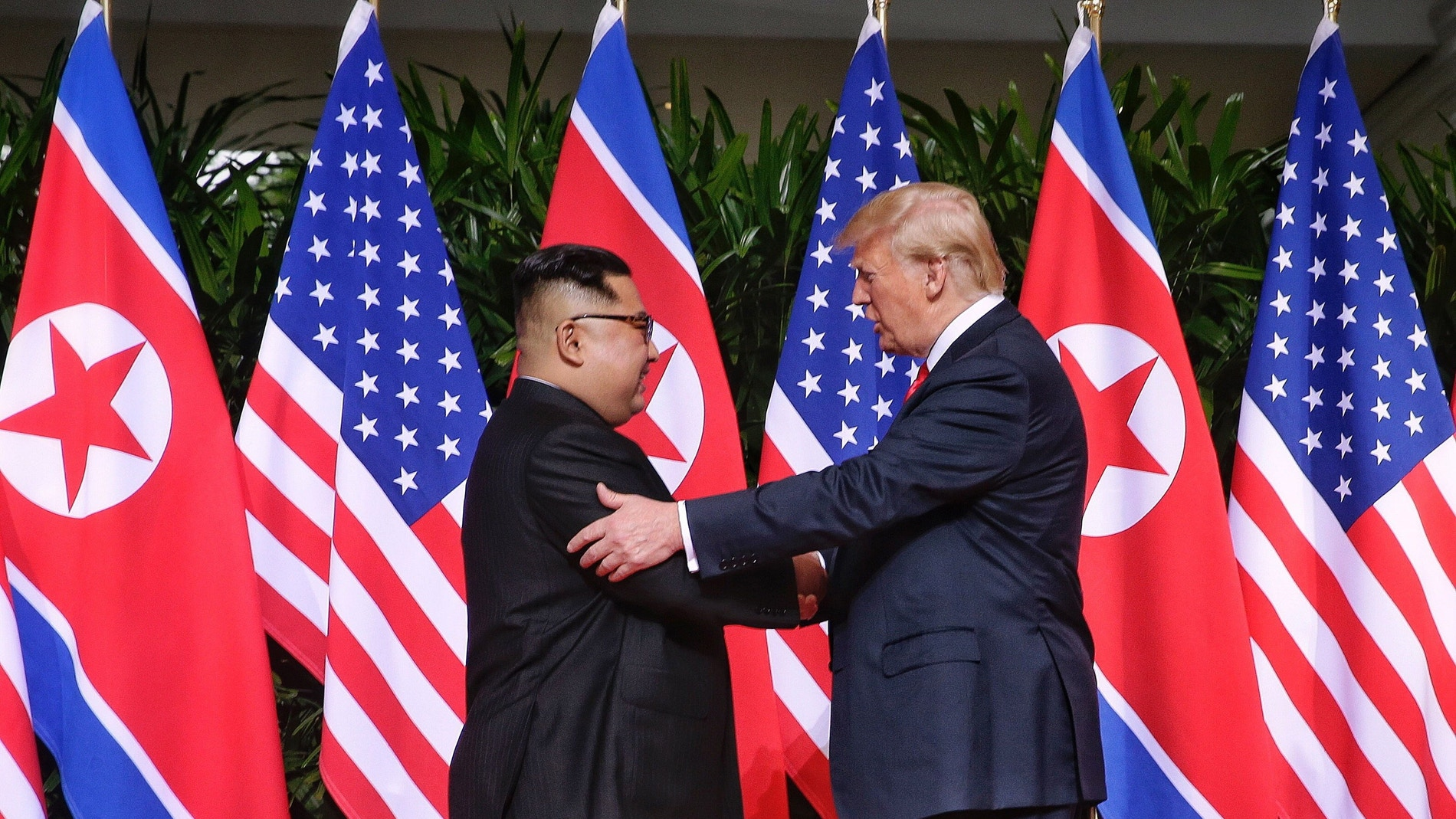 El presidente de los Estados Unidos, Donald Trump, y el líder norcoreano, Kim Jong-un