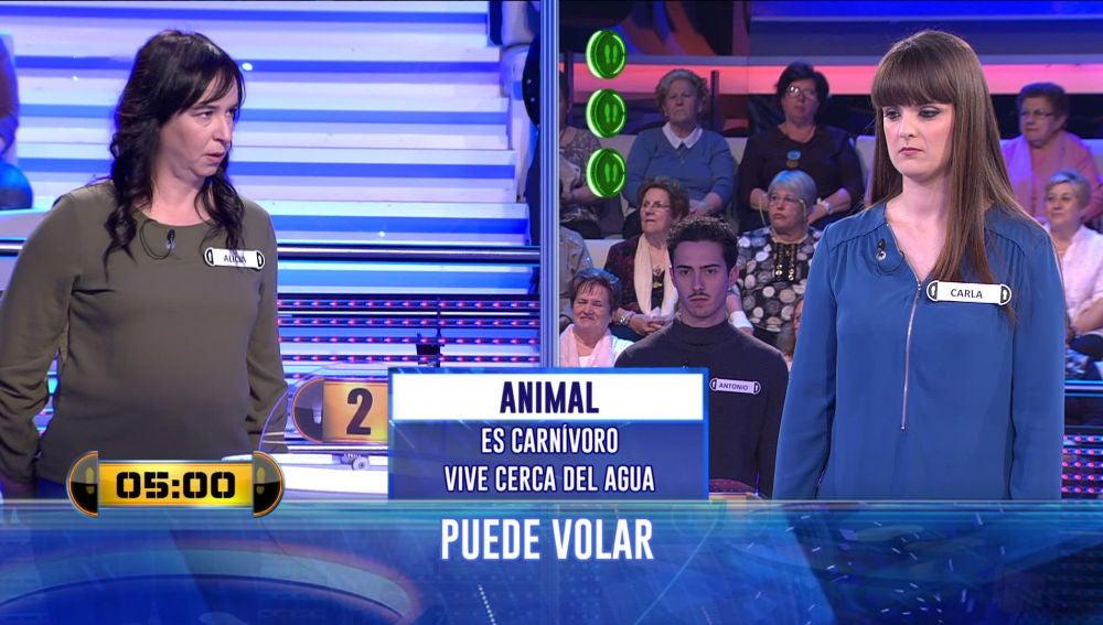 Una respuesta fuera de tiempo de la concursante central de '¡Ahora Caigo!' le da la victoria a su oponente