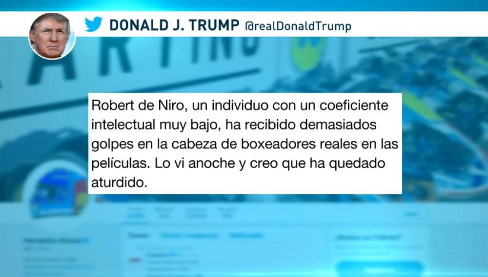 """Trump dice que Robert de Niro tiene un coeficiente intelectual """"muy bajo"""""""