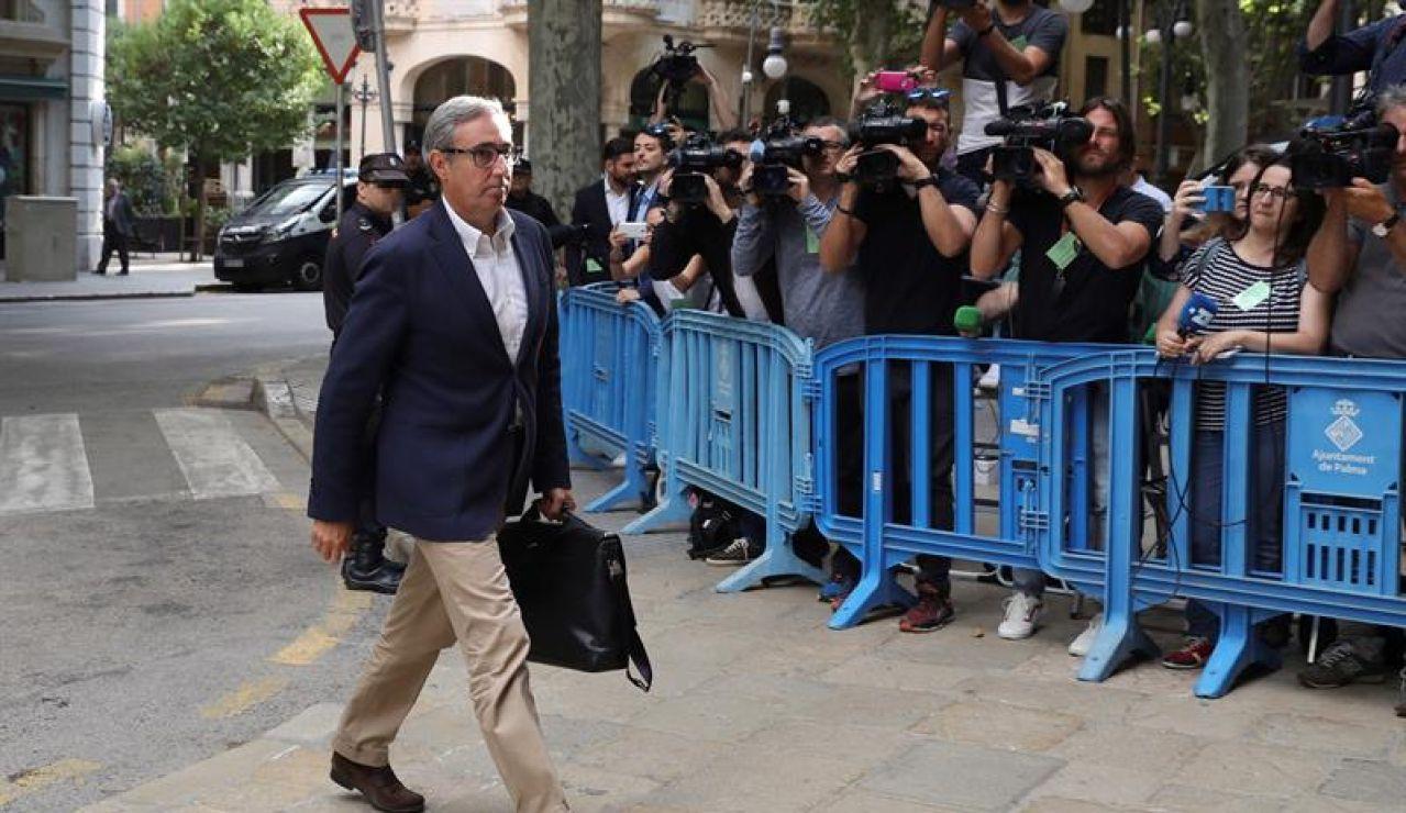 Diego Torres, a su llegada a la Audiencia de Palma