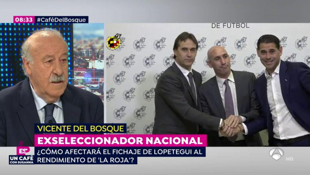 """Vicente del Bosque, sobre el fichaje de Lopetegui por el Real Madrid: """"Creo en la profesionalidad de Julen y su equipo. Es un asunto complejo"""""""