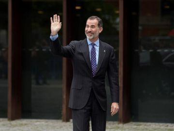 Felipe VI en un acto en Navarra