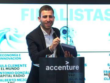 Santiago Cid, periodista de Antena 3 Noticias, finalista en el Premio de Periodismo Accenture