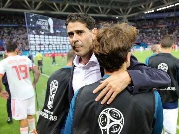 Fernando Hierro, tras el partido contra Irán