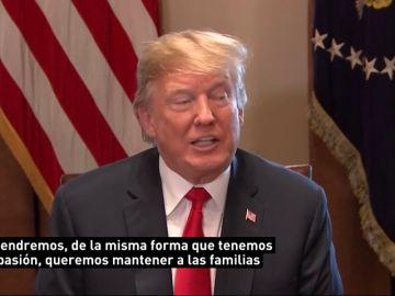 Trump anuncia que va a firmar un texto que evitará la separación de familias en la frontera estadounidense