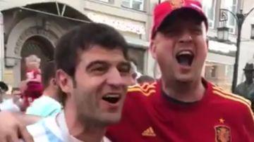 Un aficionado argentino y uno español narran el gol de Maradona a Inglaterra