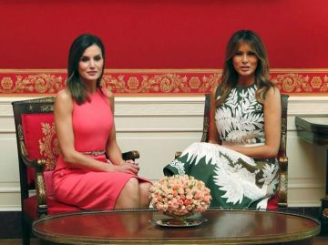 Melania Trump y la Reina Letizia