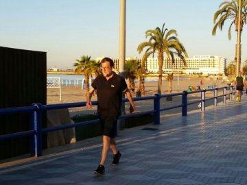 Mariano Rajoy, haciendo ejercicio en Alicante