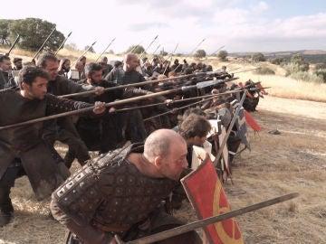 Nos colamos tras las cámaras en la batalla de los almogávares