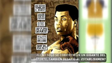 La vida del boxeador Muhammad Ali en viñetas