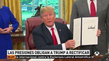 Trump firma una orden ejecutiva que evitará que los niños inmigrantes sean separados de sus padres en la frontera estadounidense