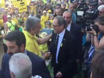 Torra llega a la concentración de ANC y Ómnium