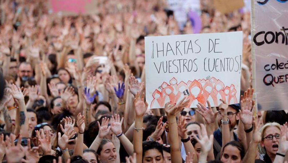 Manifestación de mujeres en Madrid