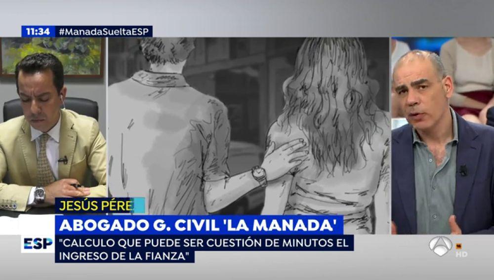 """El abogado del Guardia Civil de 'La Manada': """"Su salida de prisión no debería generar alarma social"""""""