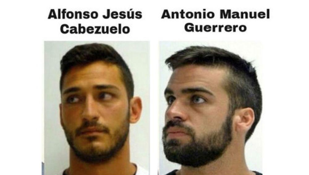Alfonso Jesús Cabezuelo y Antonio Manuel Guerrero, los miembros de 'La Manada' que estaban en la prisión de Alcalá Meco