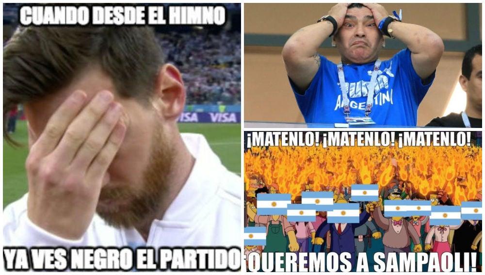 Los 'memes' de la debacle de Argentina ante Croacia