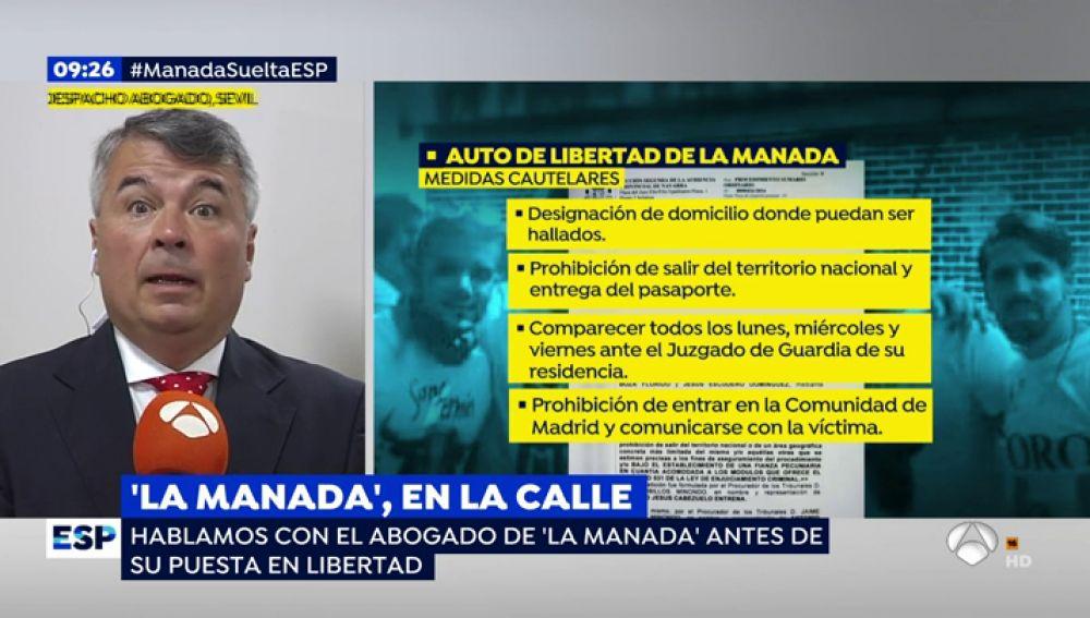 """El abogado de 'La Manada', Agustín Martínez: """"Nadie va a molestar a la denunciante ni va a incumplir la ley"""""""