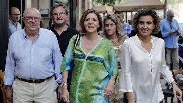 La secretaria general del PP y candidata a presidir el partido, María Dolores de Cospedal