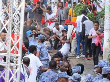 Momento del atentado en Etiopia