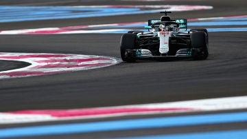 Lewis Hamilton, durante la clasificación del GP de Francia