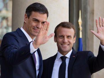 Rueda de prensa Macron y Sánchez
