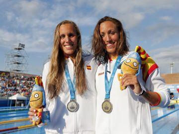 Marina García y Jessica Vall, plata y oro en 200 metros braza
