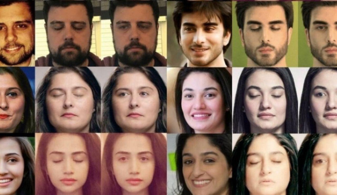 Muestras de cómo Facebook abrirá los ojos cerrados en las fotografías