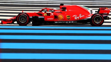 Sebastian Vettel rueda en Paul Ricard durante los Libres del GP de Francia