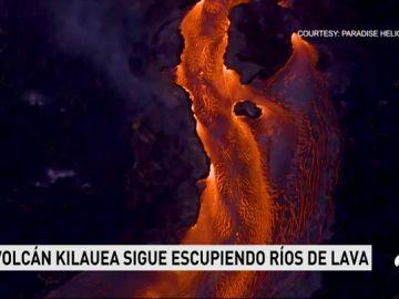 El Kilauea sigue expulsando lava