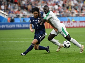 Momento del partido entre Japón y Senegal