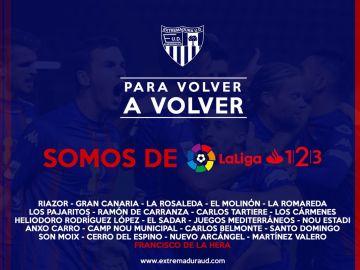 El Extremadura, equipo de Segunda División