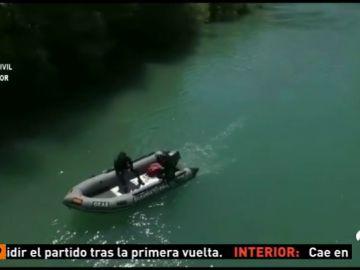 Continúa la búsqueda del joven desaparecido al caer con su coche en un río en Graus (Huesca)