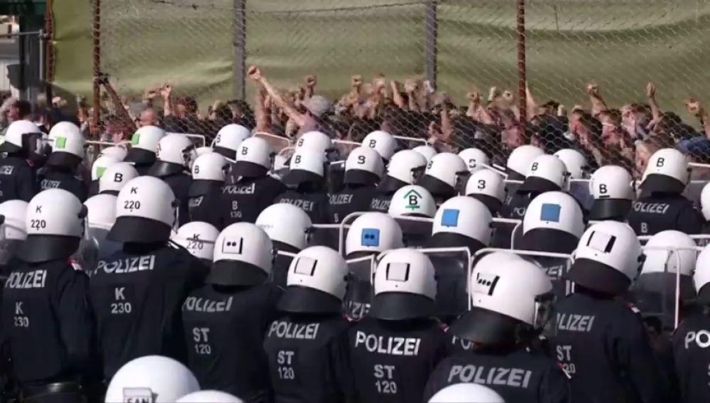 Simulacro en Austria ante la llegada de inmigrantes