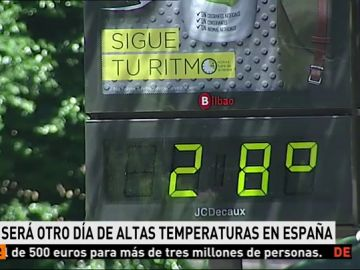 Altas temperaturas en casi todo el país y chubascos en el nororeste peninsular