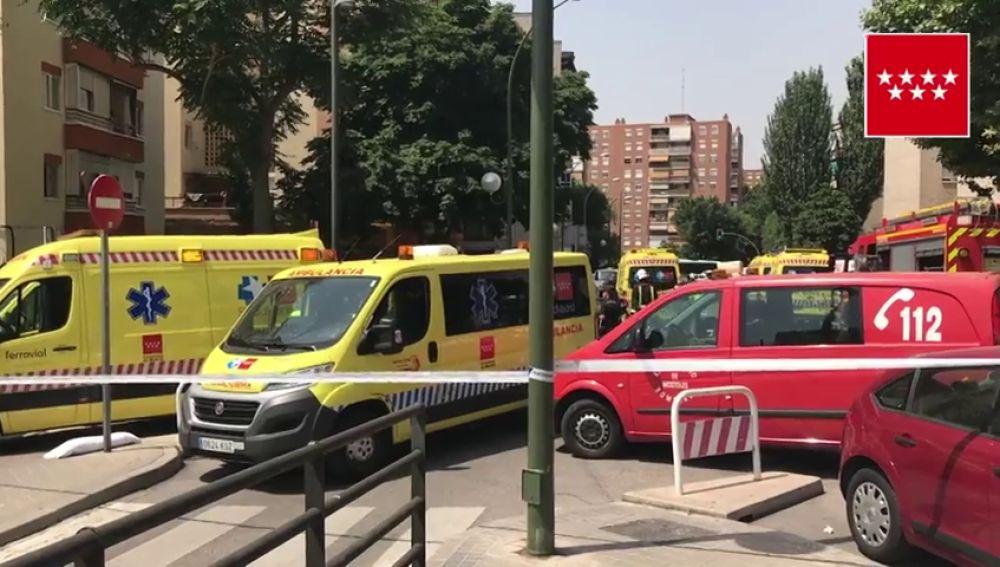 Un hombre se quema a lo bonzo en Madrid hiriendo a parte de su familia después de que su mujer le dijera que se separaba