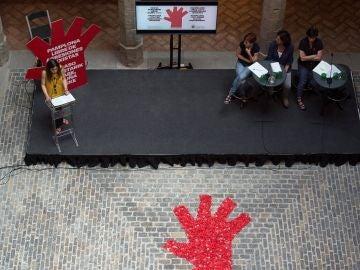 Presentaciones de las acciones contra las agresiones sexistas en San Fermín
