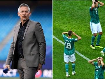 Lineker y los jugadores de Alemania abatidos