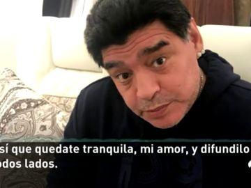 El audio filtrado de Maradona a su pareja para desmentir el bulo de su muerte