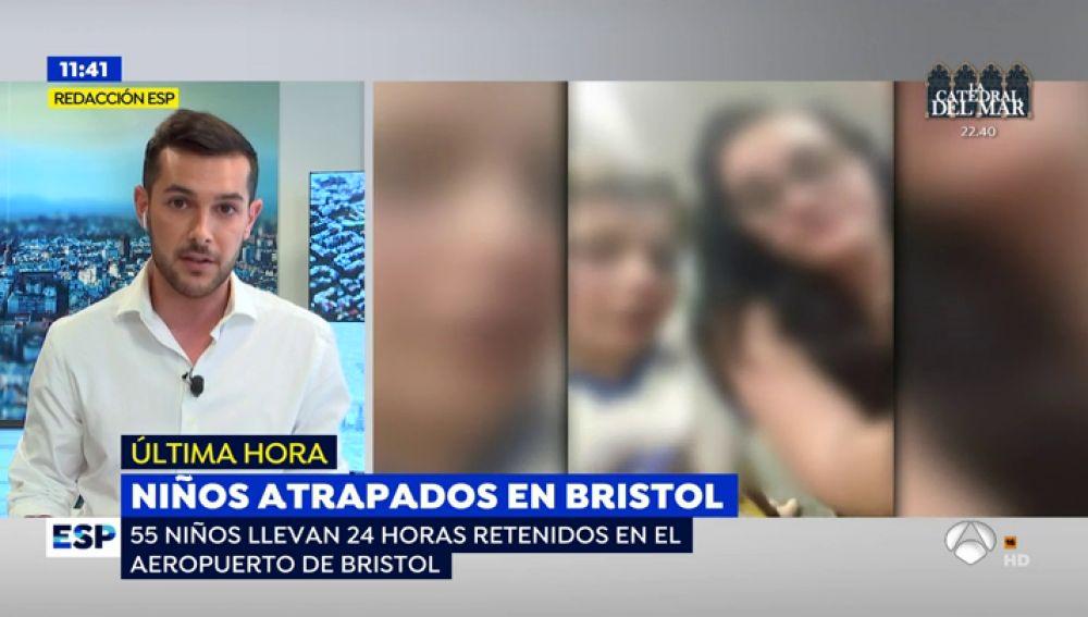 55 estudiantes españoles, atrapados en Bristol