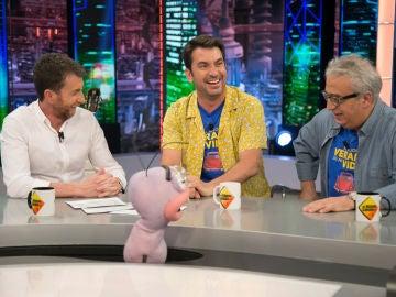 La divertidísima ronda de chistes de Arturo Valls, Leo Harlem, Pablo Motos, Trancas y Barrancas en 'El Hormiguero 3.0'