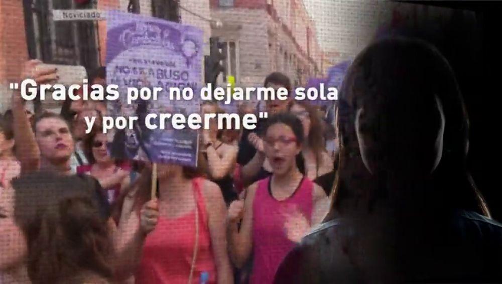 """La víctima de 'La Manada' rompe su silencio: """"No os quedéis callados porque si lo hacéis, les estáis dejando ganar a ellos"""""""
