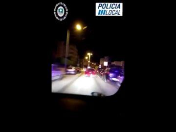 Impresionante persecución policial que acaba con cuatro detenidos en Mallorca