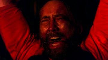 Fotograma de Nicolas Cage en 'Mandy'