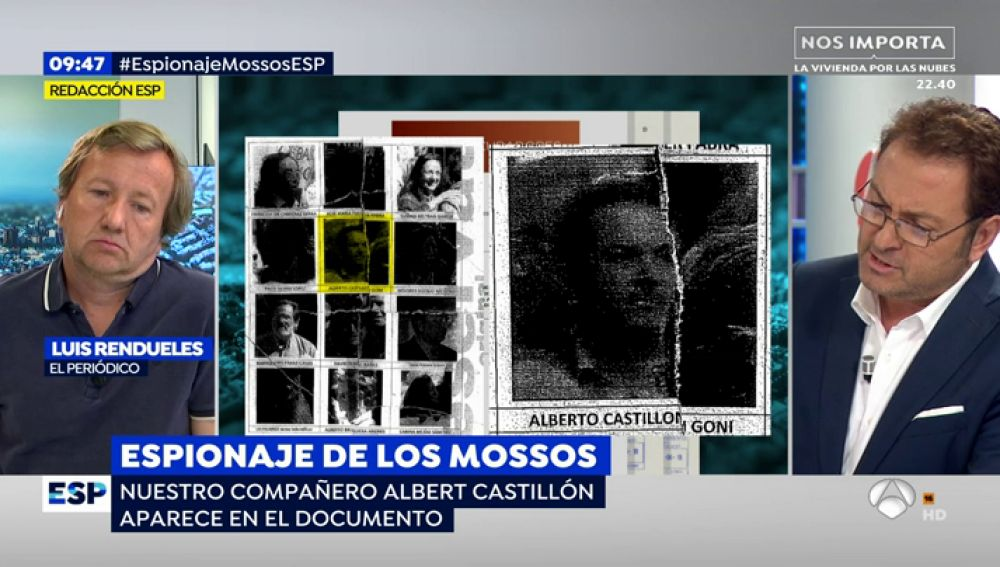 Espejo Público muestra los informes reservados en los que los Mossos espiaron al periodista Albert Castillón