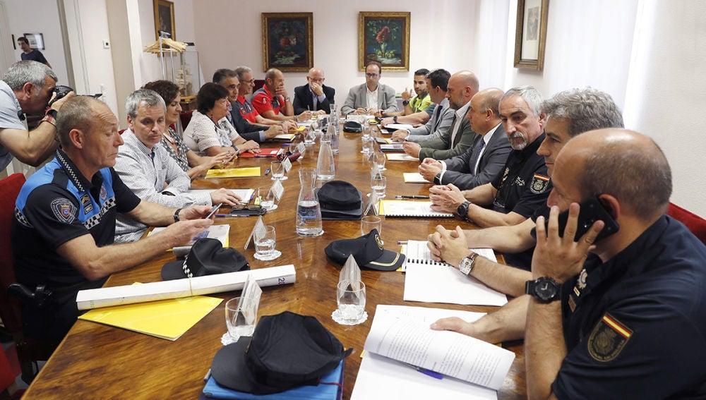 Imagen de la reunión por el dispositivo de seguridad en San Fermín