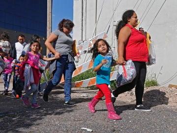 Familias de migrantes en Estados Unidos