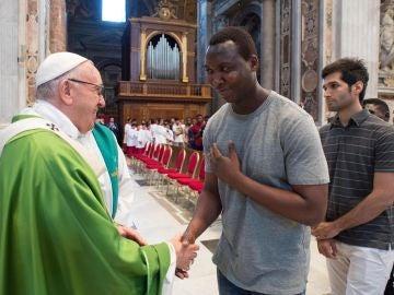 El Papa Francisco durante una homilía